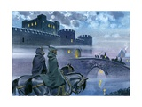 Robin Hood Outside Nottingham Castle Giclee Print by Angus Mcbride