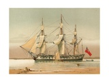 A 42-Gun Frigate About 1780 Giclee Print by William Frederick Mitchell