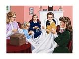 A Scene from Little Women Giclee Print by John Keay