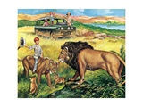Paul's Lioness Giclee Print by Ron Embleton