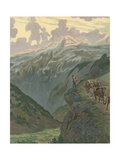 Switzerland - National Song Giclee Print by  JOB (Jacques Onfray de Breville)