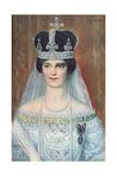 Coronation Portrait of Zita de Bourbon-Parme as Queen of Hungary, 1917 Giclee Print by Sandor Endrey