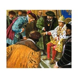 Richard Chancellor Is Taken to Meet Tsar Ivan Giclee Print by Clive Uptton