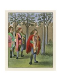 Minstrels, c 1480 Giclee Print by Henry Shaw
