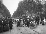 Arrival of Refugees from North France and Belgium, Gare Du Nord, Paris, 1914 Photographic Print by Jacques Moreau