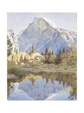 Half Dome and Mirror Lake, 1921 Gicléetryck av Gunnar Widforss