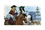 King Charles II Restoring Amusements to England Giclee Print by Angus Mcbride