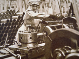Woman Worker in a Munitions Factory in Britain During WWI Photographic Print by  English Photographer