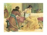 Queen Esther and Haman Giclee Print by  English School