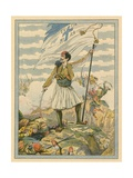 Greece - National Song Giclee Print by  JOB (Jacques Onfray de Breville)