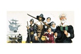 The Pilgrim Fathers Arrive in America Giclee Print by Angus Mcbride