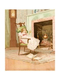 Dreaming before the Old Fireplace Giclee Print by Edward Percy Moran
