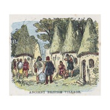 Ancient British Village Giclee Print by  English School