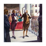 George Washington Being Sworn in as President of the United States Giclee Print by Peter Jackson