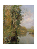 The River Frome, Morton nr Dorchester, 1901 Giclee Print by Frederick William Newton Whitehead