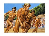Olympic Runners Giclee Print by Roger Payne