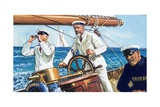 King George V Sailing Britannia Giclee Print by Clive Uptton