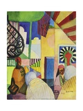 In the Bazaar, 1914 Giclee Print by Auguste Macke