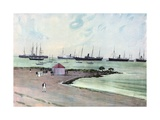 Captured Spanish Vessels at Anchor in Man-Of-War Harbor, Key West. - View from the Esplanade Near… Giclee Print by Carlton T. Chapman