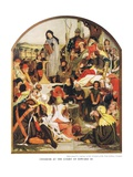 Chaucer at the Court of Edward III, c.1940s Giclee Print by Ford Madox Brown