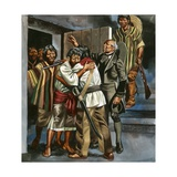 The Mexican Revolution Began When Father Hidalgo Led a Band of Armed Men to the Local Prison Giclee Print by Ron Embleton