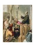 Conscience Preaching in Mansoul Giclee Print by Gustav Bartsch
