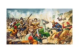 Alexander the Great at Issus Giclee Print by Peter Jackson