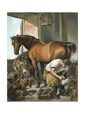 Blacksmith Giclee Print by Edwin Henry Landseer