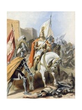 The Meeting of Emmanuel and Captain Credence Giclee Print by Gustav Bartsch