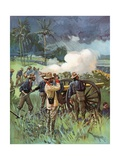 Field Artillery in Action Giclee Print by Thure De Thulstrup