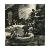 The Royal Marines as Commando Assault Troops in 1944 Giclee Print by  English School