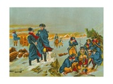Washington and Lafayette at Valley Forge Giclee Print by  English School