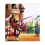 Medieval Tournament Giclee Print by Andrew Howat