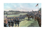 President McKinley Reviewing the United States Volunteers at Camp Alger Giclee Print by G. W. Peters