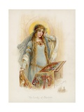 Tennyson's the Lady of Shalott Giclee Print by Frances Brundage
