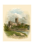 Worcester Cathedral, North East Giclee Print by Arthur Wilde Parsons