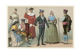 Spain Costume Giclee Print by  French School