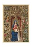 St Anne Giclee Print by  English School