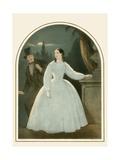 Woman in White Giclee Print by John Brandard