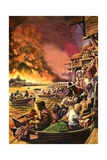 The Great Fire of London Giclee Print by Peter Jackson