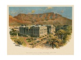 Parliament House and Table Mountain, Cape Town Giclee Print by Charles Wilkinson