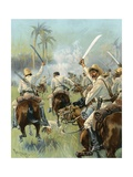 A Charge of Cuban Cavalry Armed with Machetes Giclee Print by Thure De Thulstrup