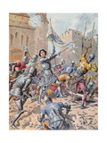 Joan of Arc at the Siege of Orleans, c.1900 Giclee Print by Frederic Theodore Lix