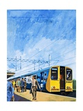 Class 313 Suburban Electric Train Giclee Print by Harry Green