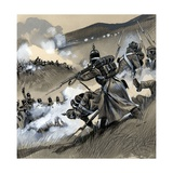The Royal Marines Fighting Brilliantly in the Crimean War Giclee Print by  English School