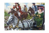 Queen Anne Had a One-Seat Chariot She Used to Hunt In Giclee Print by Clive Uptton