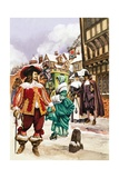 Cavalier in 17th Century London Giclee Print by Peter Jackson