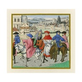 The Canterbury Pilgrimage, Late 15th Century Giclee Print by Henry Shaw