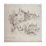 Back View of the Old Blakeney Head Inn, Bartholomew Close, London, c.1900 Giclee Print by Robert Randoll