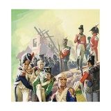 Wounded Soldiers after the Battle of Waterloo Giclee Print by Severino Baraldi